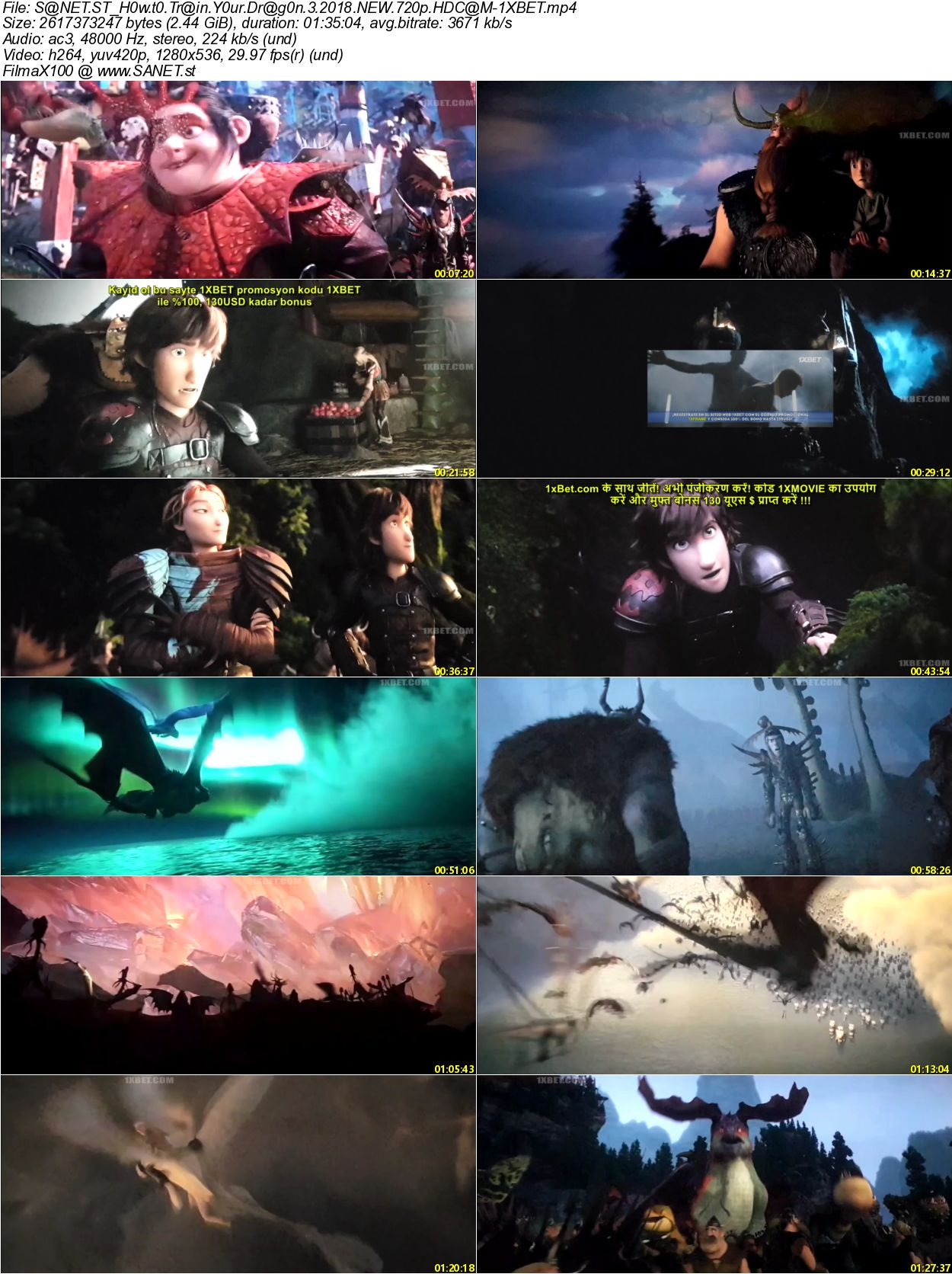 How To Train Your Dragon 3 2019 Hdcam Xvid Ac3 Etrg