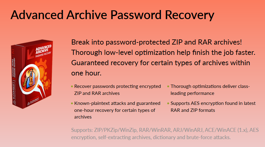 Download ElcomSoft Advanced Archive Password Recovery Enterprise