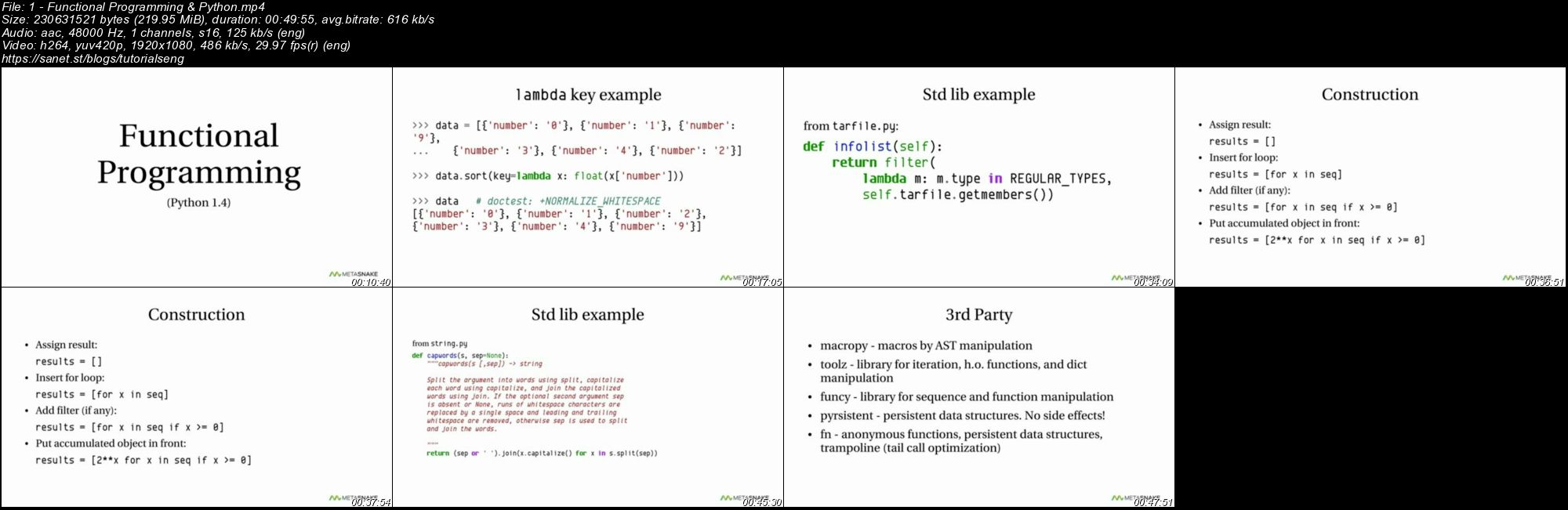 Download O'Reilly - Functional Programming & Python