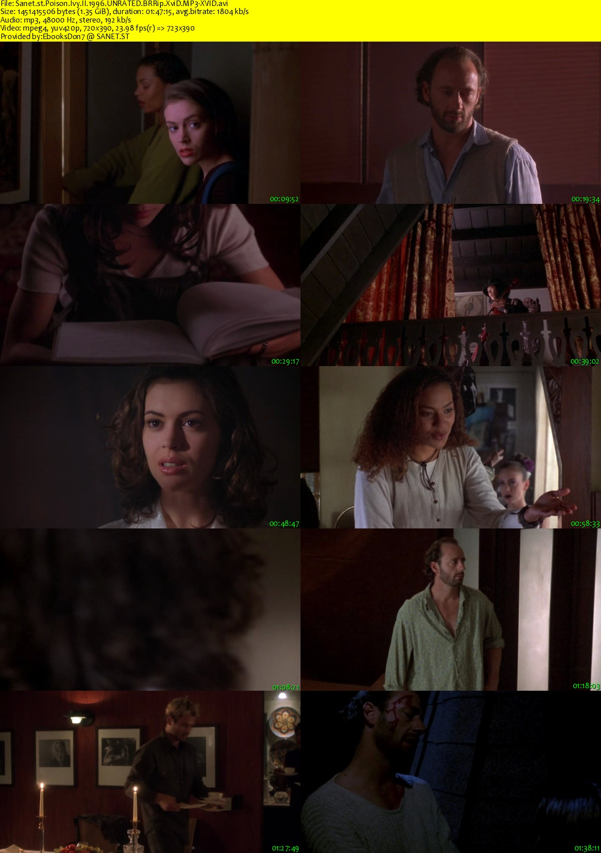 Alyssa Milano Poison Ivy 2 download poison ivy ii 1996 unrated brrip xvid mp3-xvid