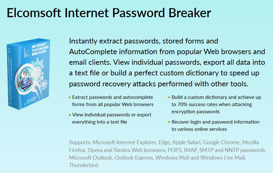 Download Elcomsoft Internet Password Breaker 3 10 Build 4887