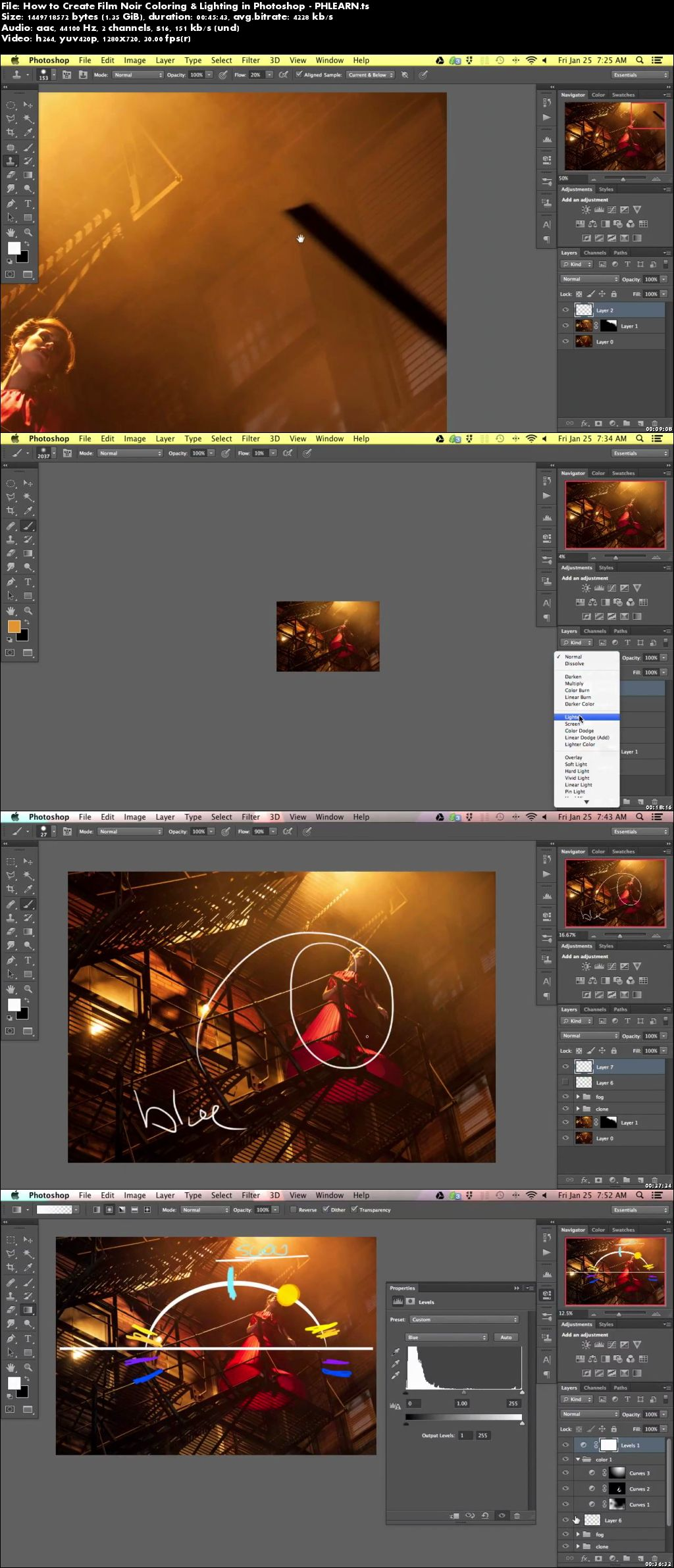 Download How to Create Film Noir Coloring & Lighting in Photoshop