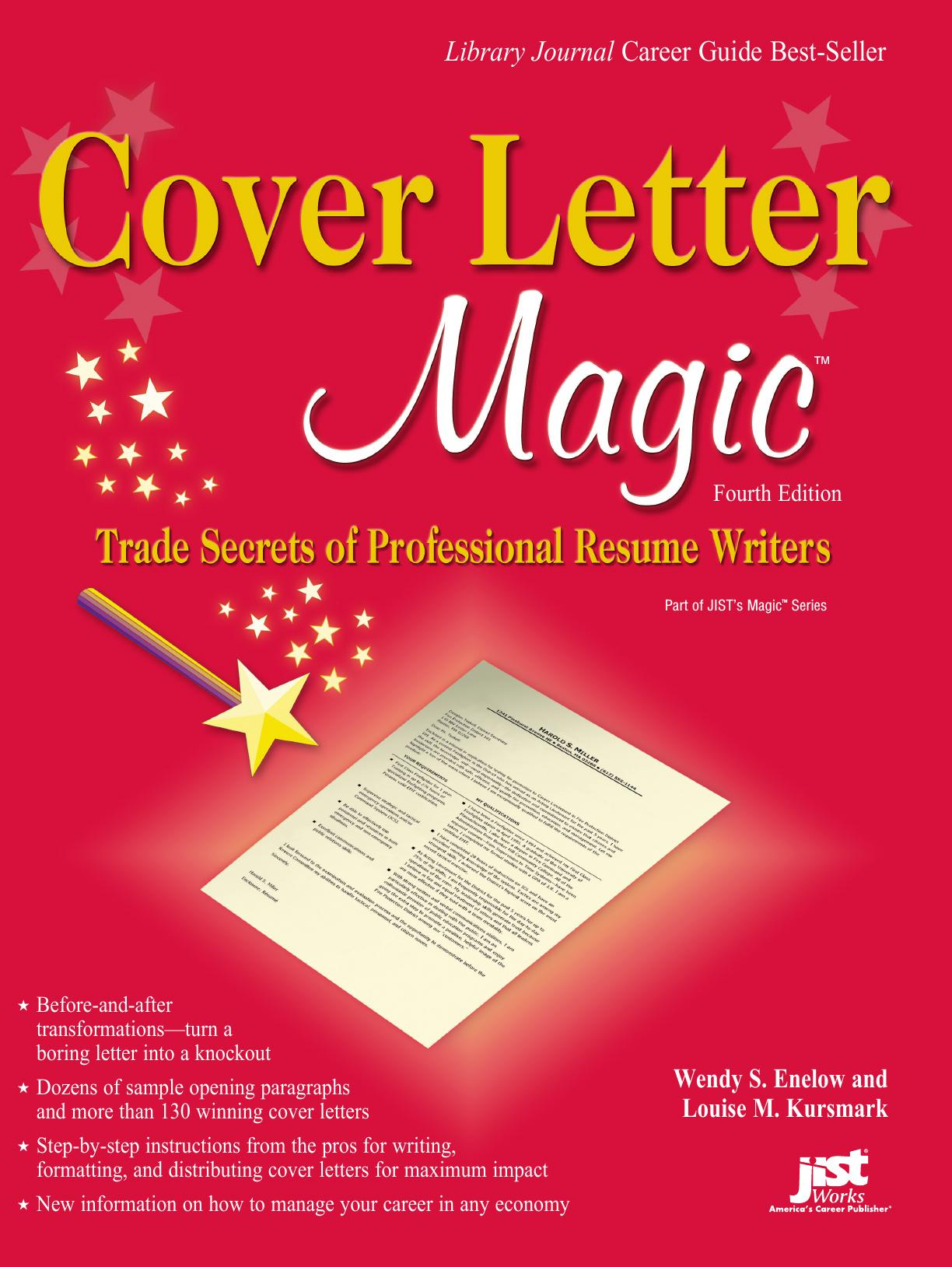 Cover Letter Magic Trade Secrets Of Professional Resume Writers 4th Edition