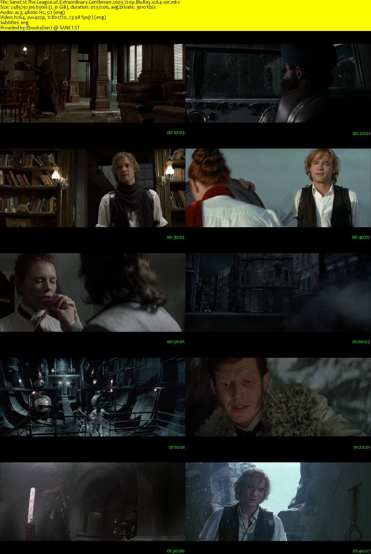 Download The League Of Extraordinary Gentlemen 2003 720p Bluray X264 X0r Softarchive