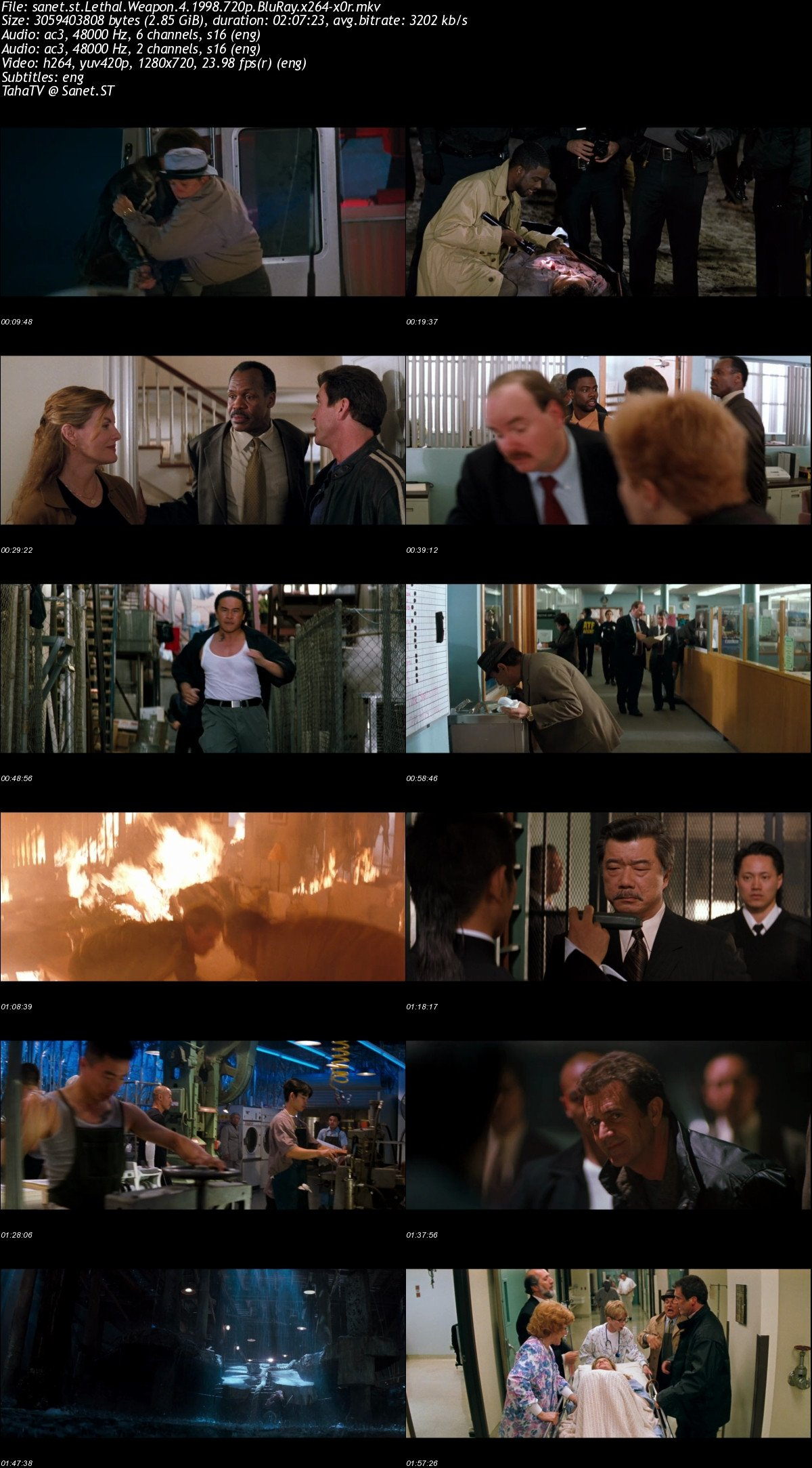 Download Lethal Weapon 4 1998 720p Bluray X264 X0r Softarchive