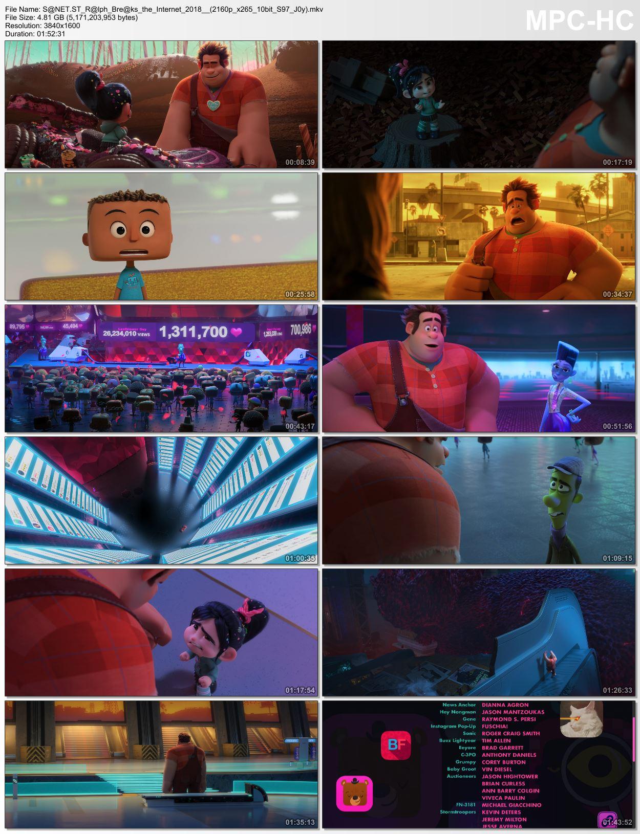 Download Ralph Breaks the Internet 2018 2160p BluRay x265 HEVC 10bit