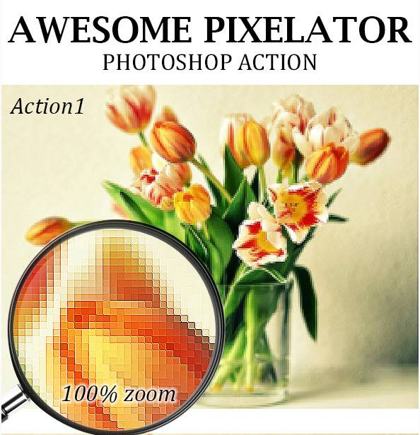 Download GraphicRiver - Awesome Pixelator Photoshop Action