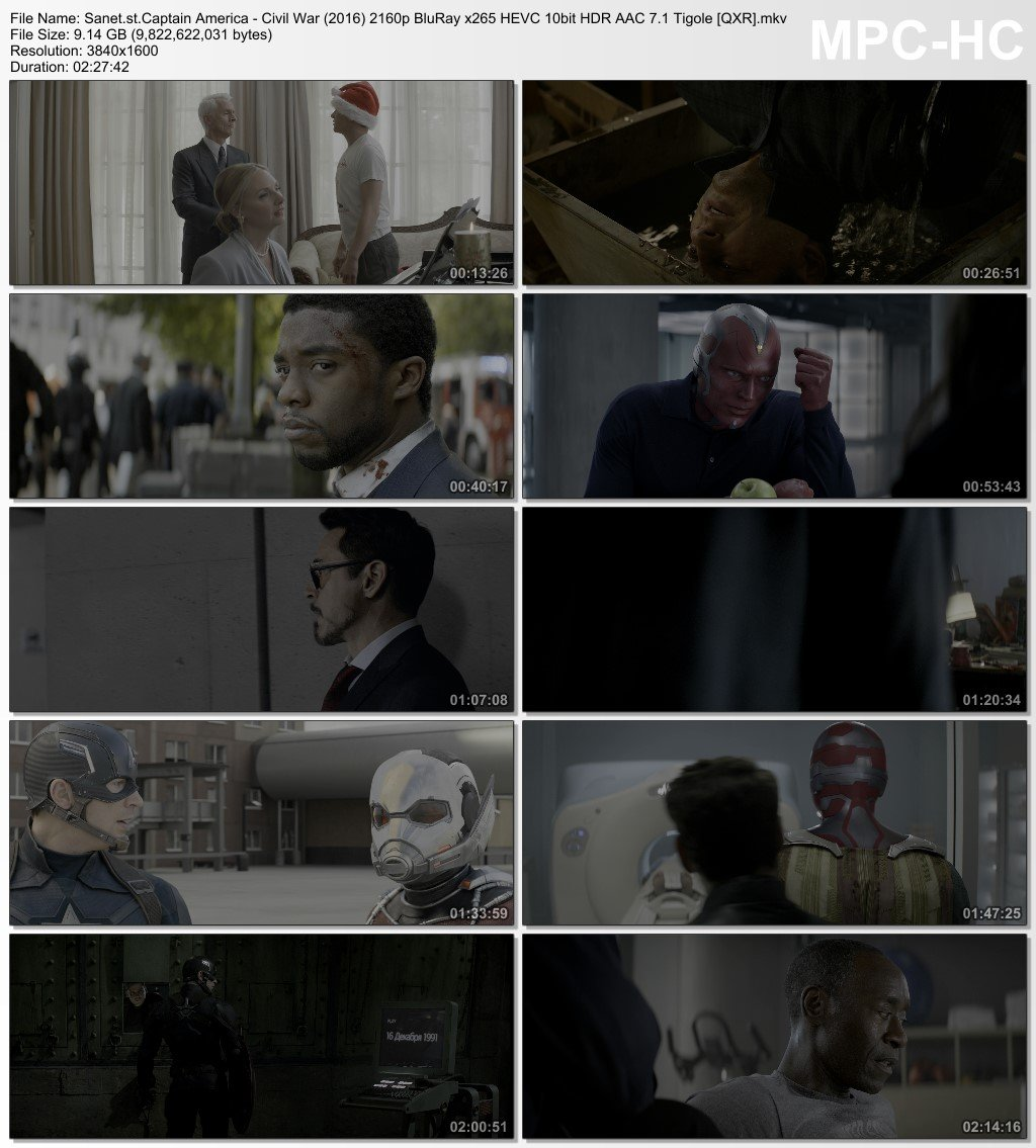 Download Captain America Civil War 2016 2160p BluRay x265 HEVC 10bit