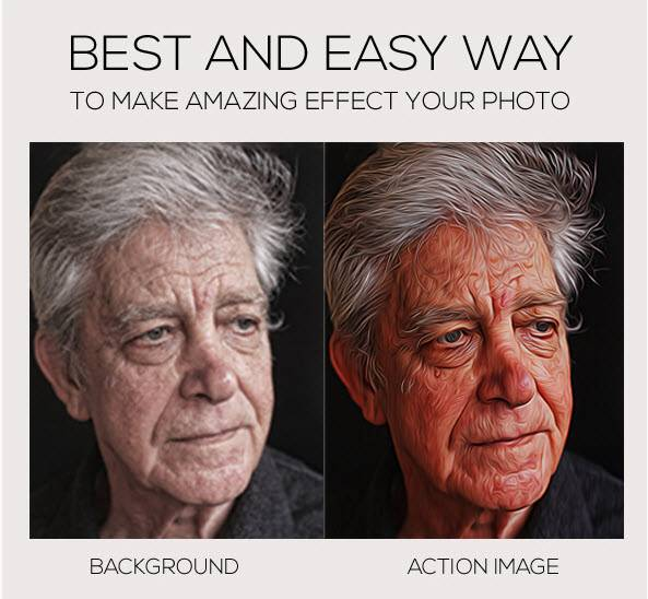 Download GraphicRiver - Oil Paint Photoshop Action - SoftArchive