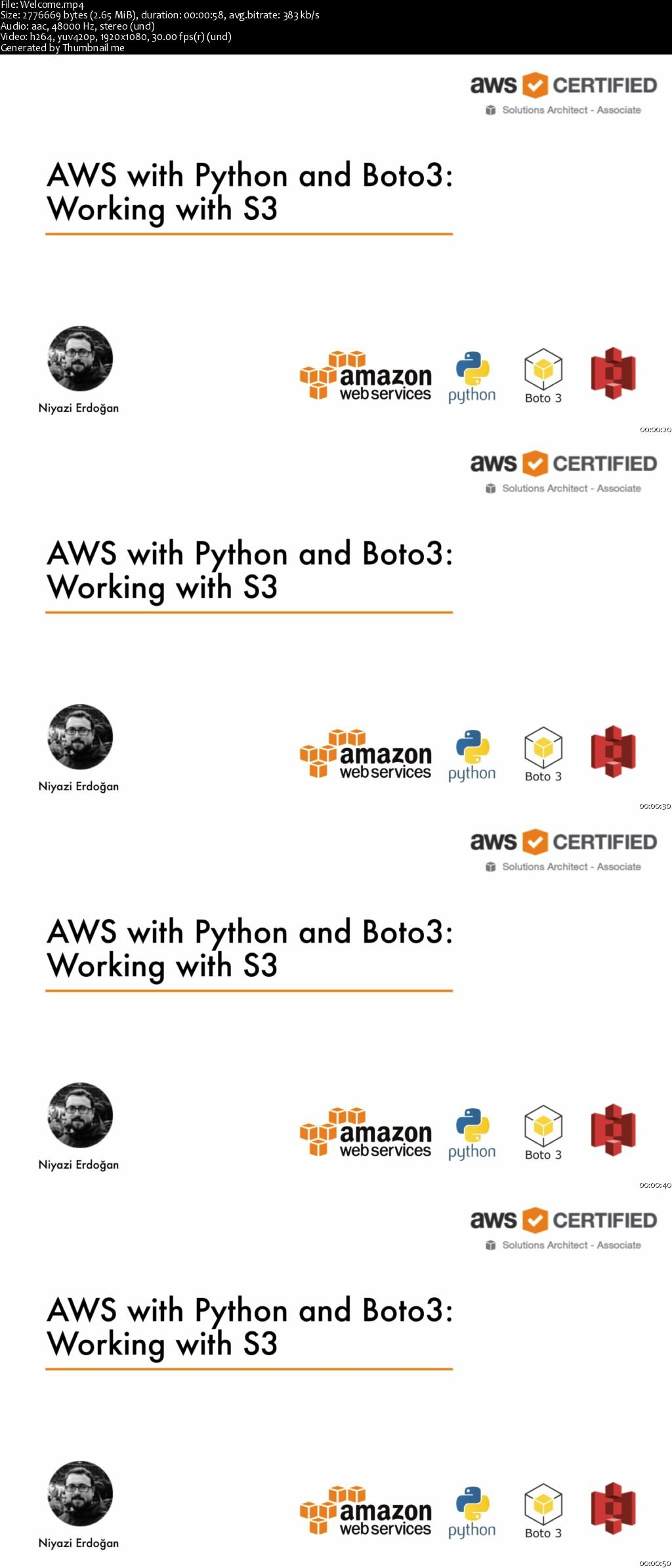 Download Developing with S3: AWS with Python and Boto3 Series