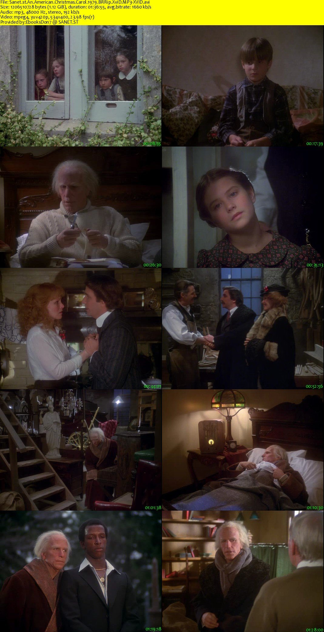 An American Christmas Carol.Download An American Christmas Carol 1979 Brrip Xvid Mp3
