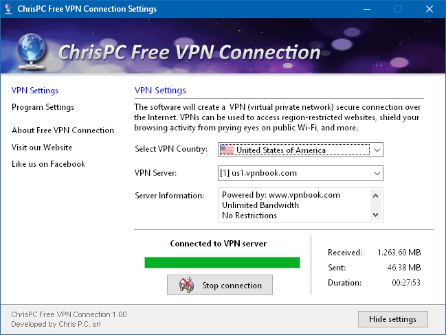 ChrisPC Free VPN Connection 1.00