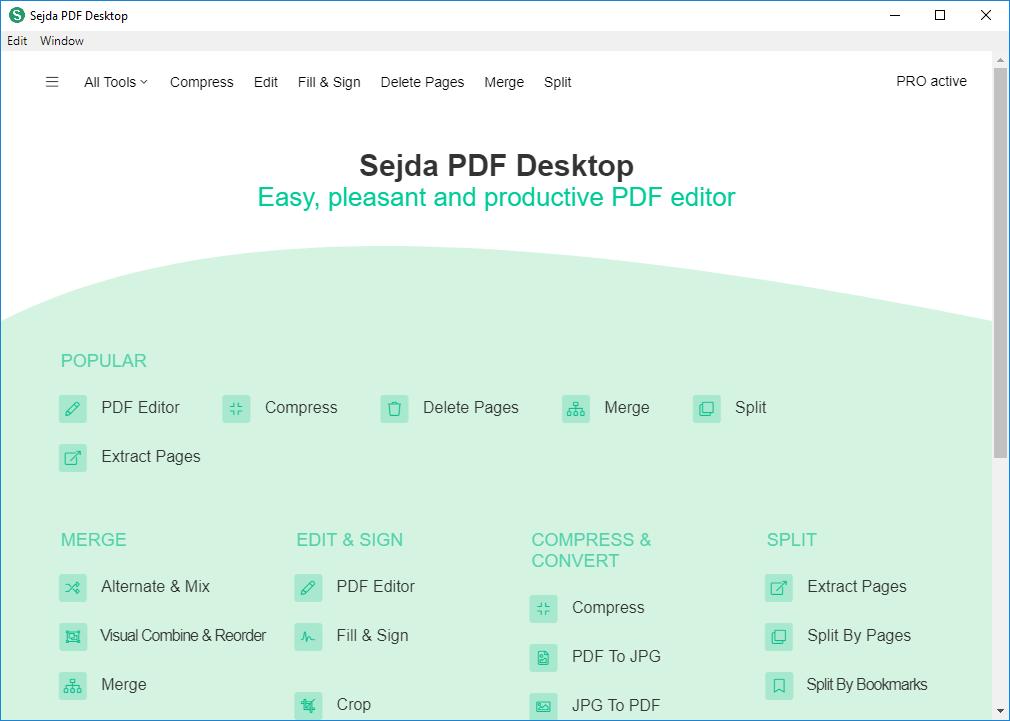Sejda PDF Desktop Pro 5.2.7 Multilingual