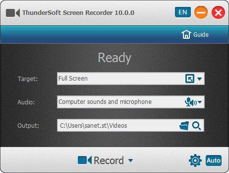 ThunderSoft Screen Recorder 10.0.0