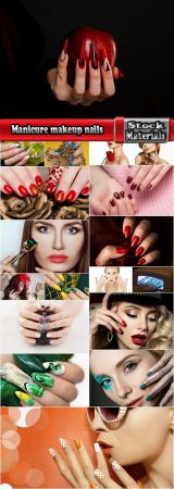 Manicure makeup nails beauty advertising poster woman girl 18 HQ Jpeg