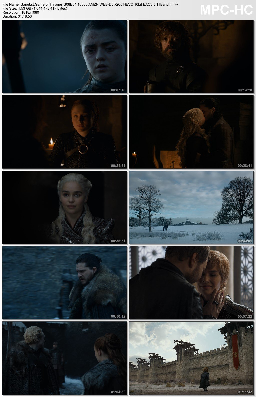 Download Game of Thrones S08E04 1080p AMZN WEB-DL x265 HEVC 10bit