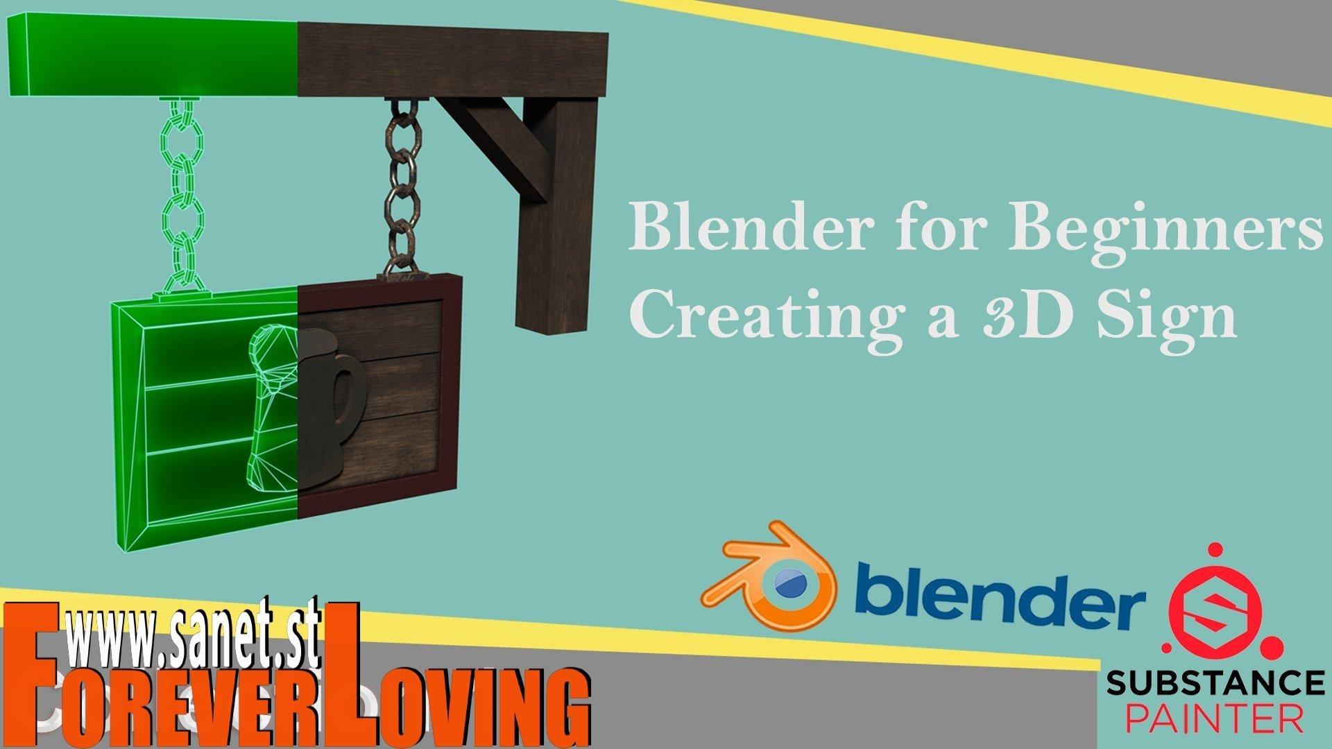 Download Blender for beginners creating a low poly 3D model