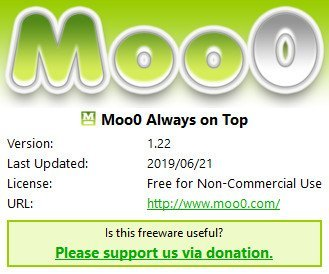 Moo0 Always on Top 1.22 Multilingual