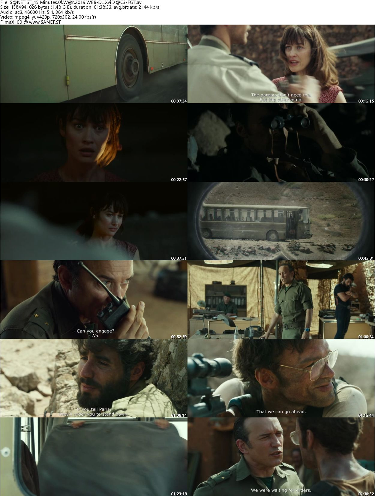 Download 15 Minutes Of War 2019 WEB-DL XviD AC3-FGT - SoftArchive