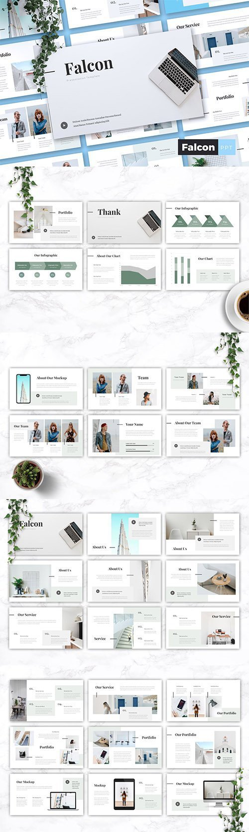 Download FALCON - Company Profile Powerpoint, Keynote and Google