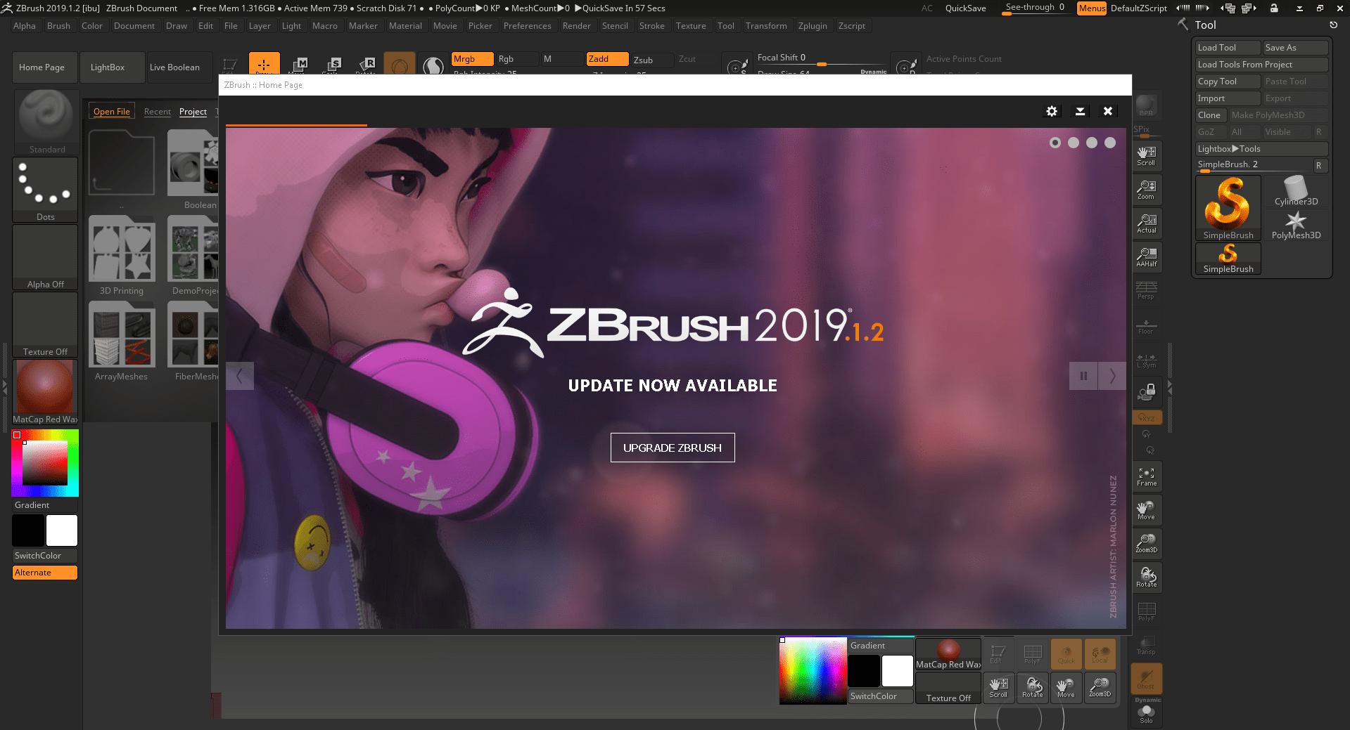 Pixologic Zbrush 2019 x64 + Crack -
