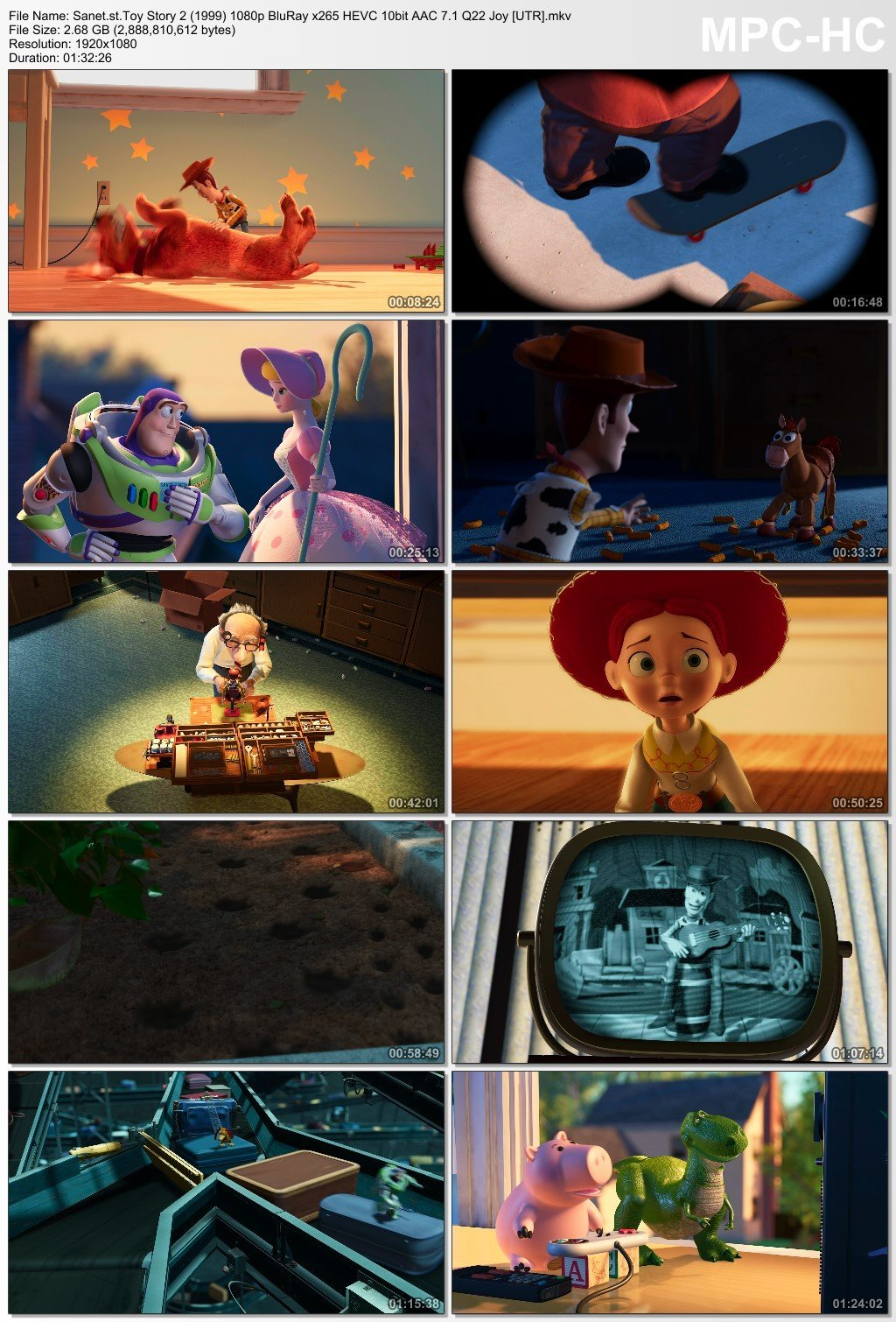 Download Toy Story 2 1999 1080p BluRay x265 HEVC 10bit AAC 7 1 Q22