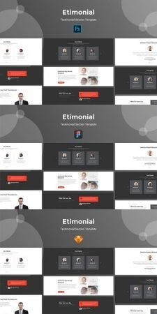 Download Etimonial - Team Section Kit For Photoshop, Sketch, Figma