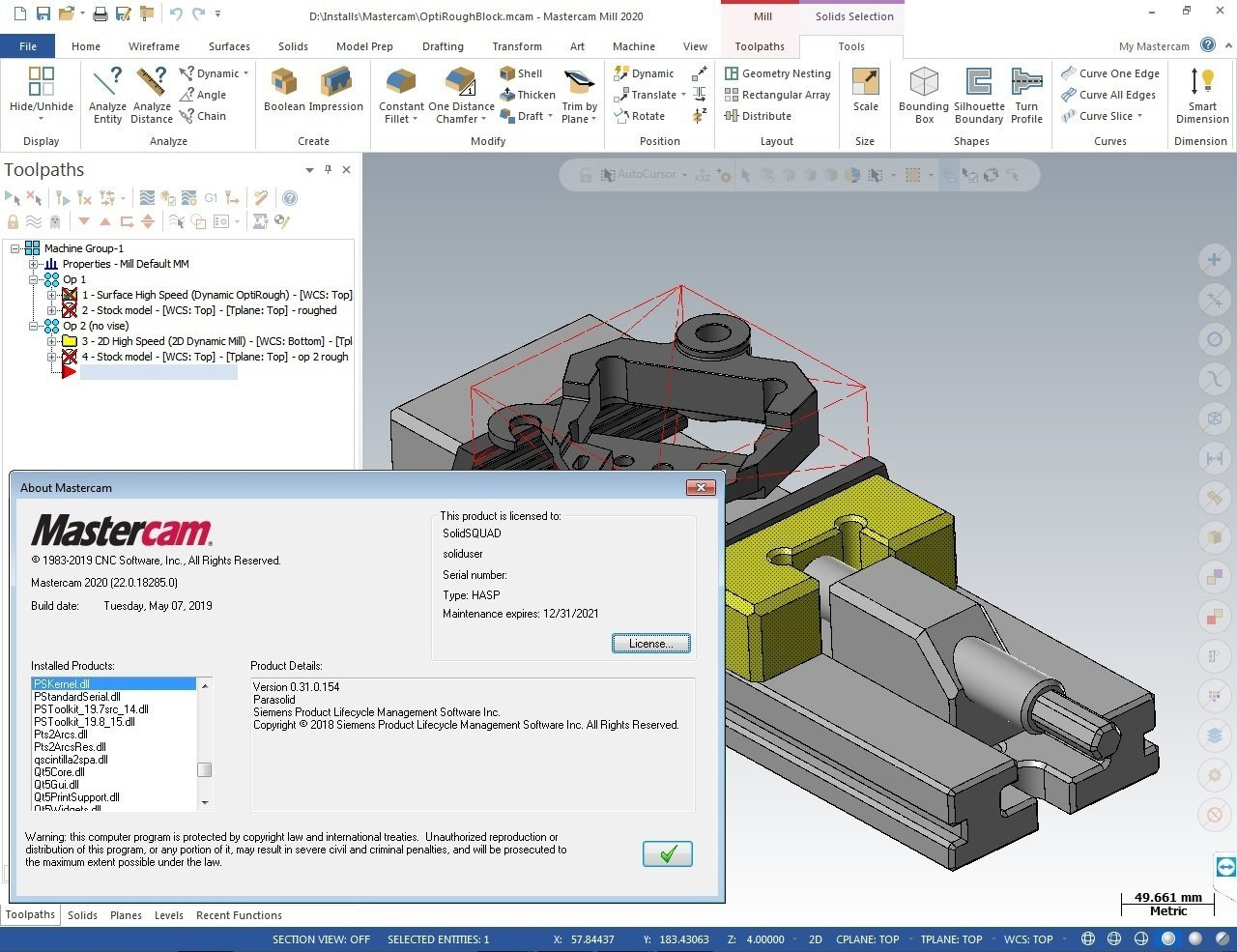 Download Mastercam 2020 v22 0 18285 0 (x64) - SoftArchive