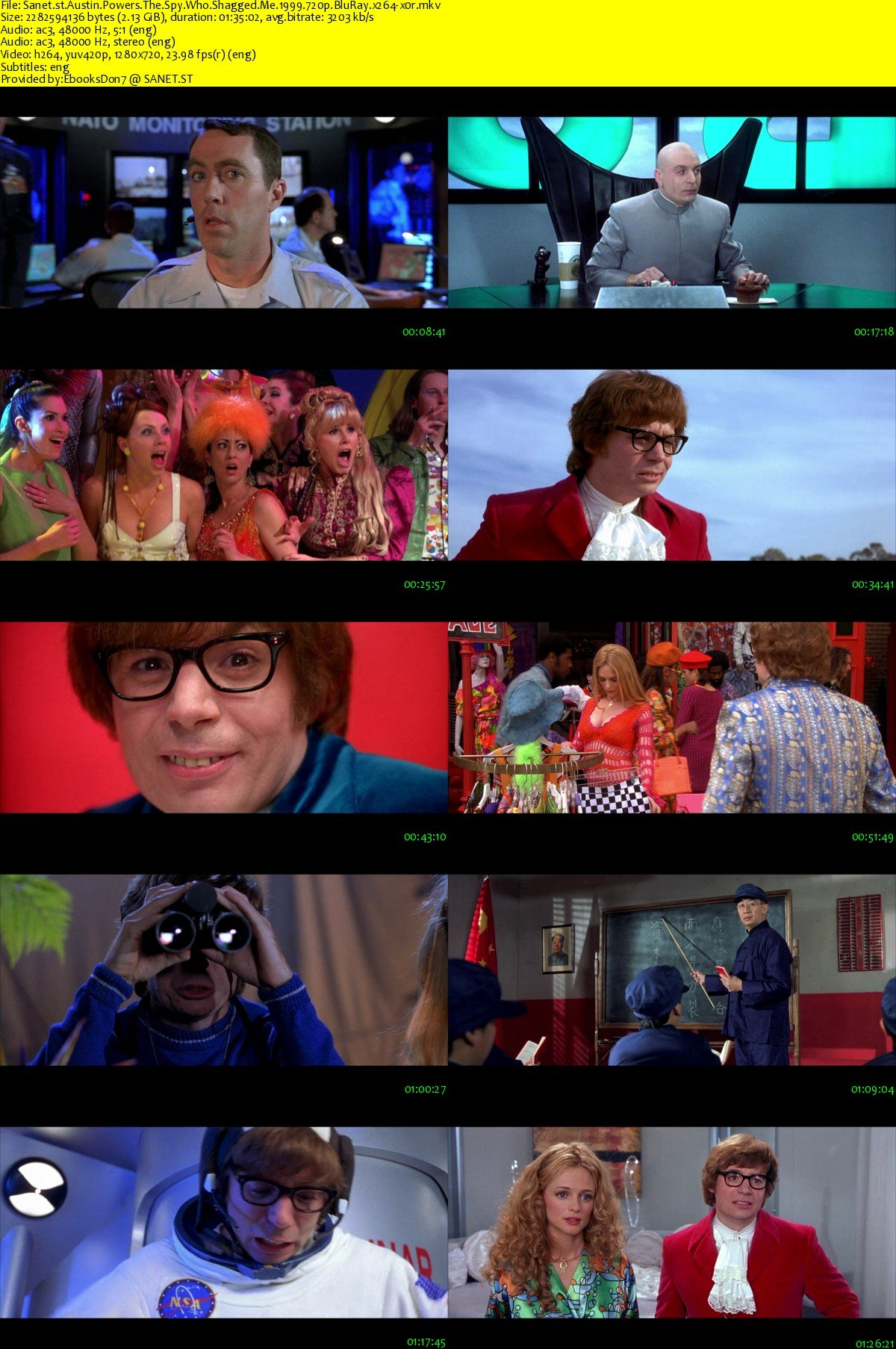 Download Austin Powers The Spy Who Shagged Me 1999 720p Bluray X264 X0r Softarchive