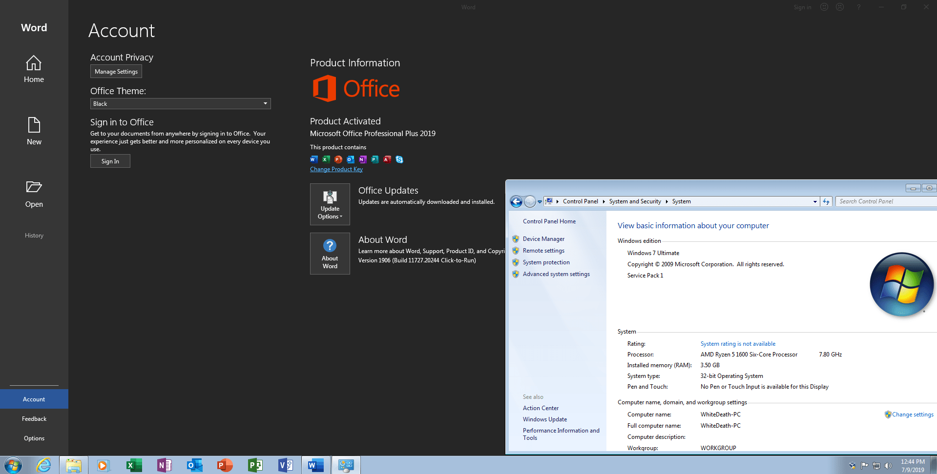 Download Microsoft Office Professional Plus Retail-VL Version 1906