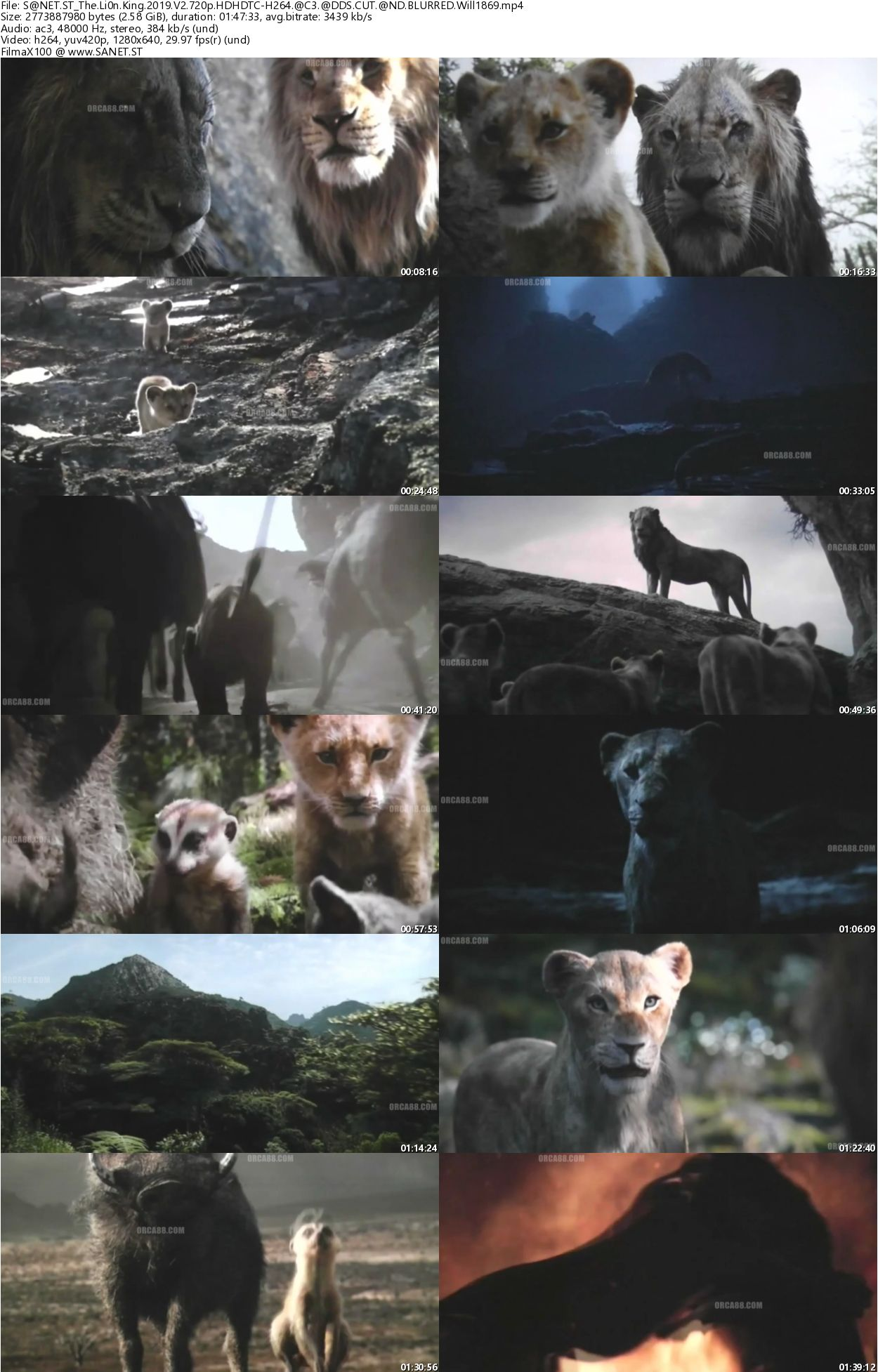 Lion King 1080p: Download The Lion King 2019 V2 720p HDTC H264 AC3 ADDS CUT