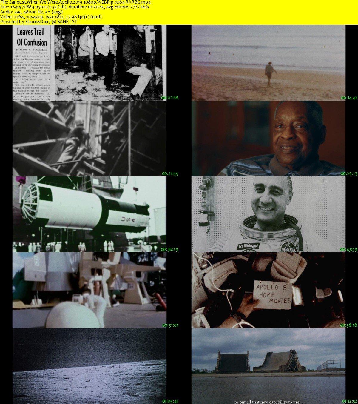 Download When We Were Apollo 2019 1080p WEBRip x264-RARBG - SoftArchive