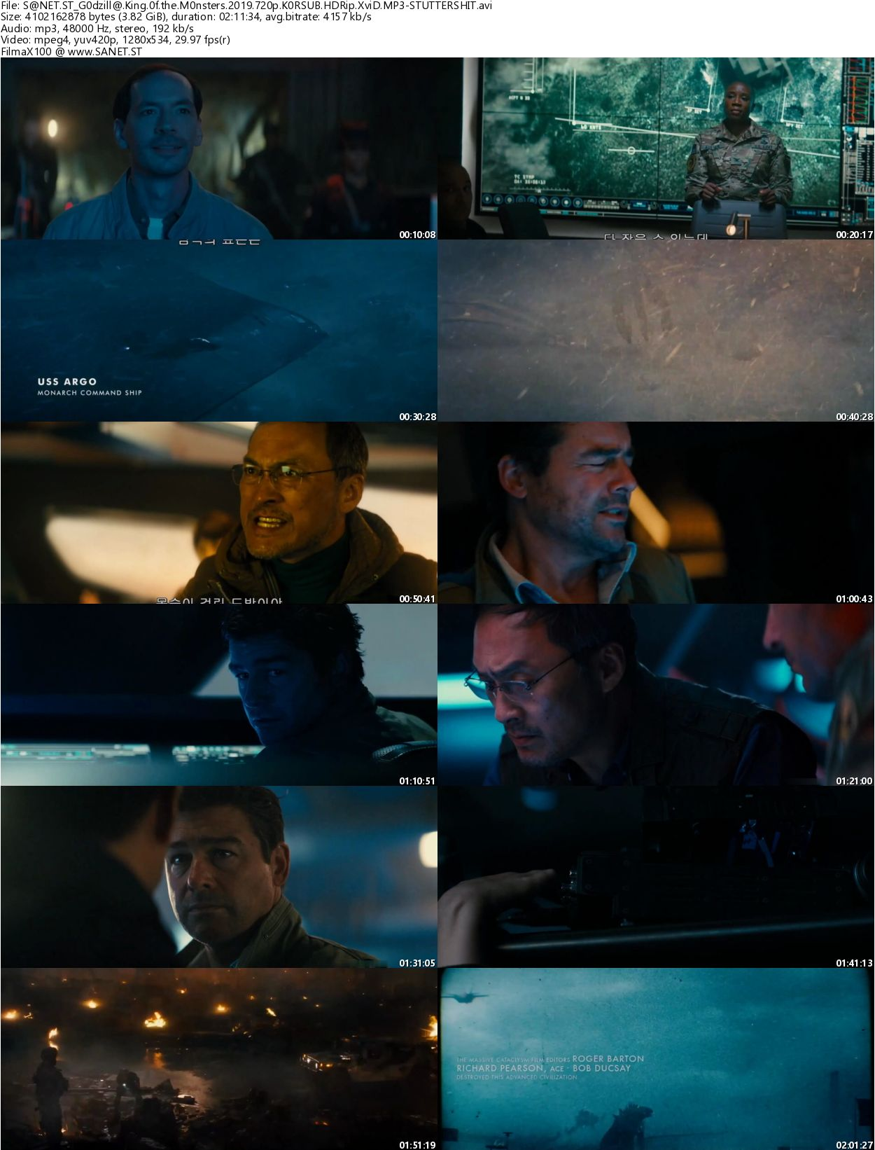 Download Godzilla King of the Monsters 2019 720p KOR-SUB HDRip XviD