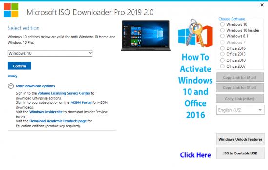 Download Microsoft ISO Downloader Pro 2019 2 1 Multilingual