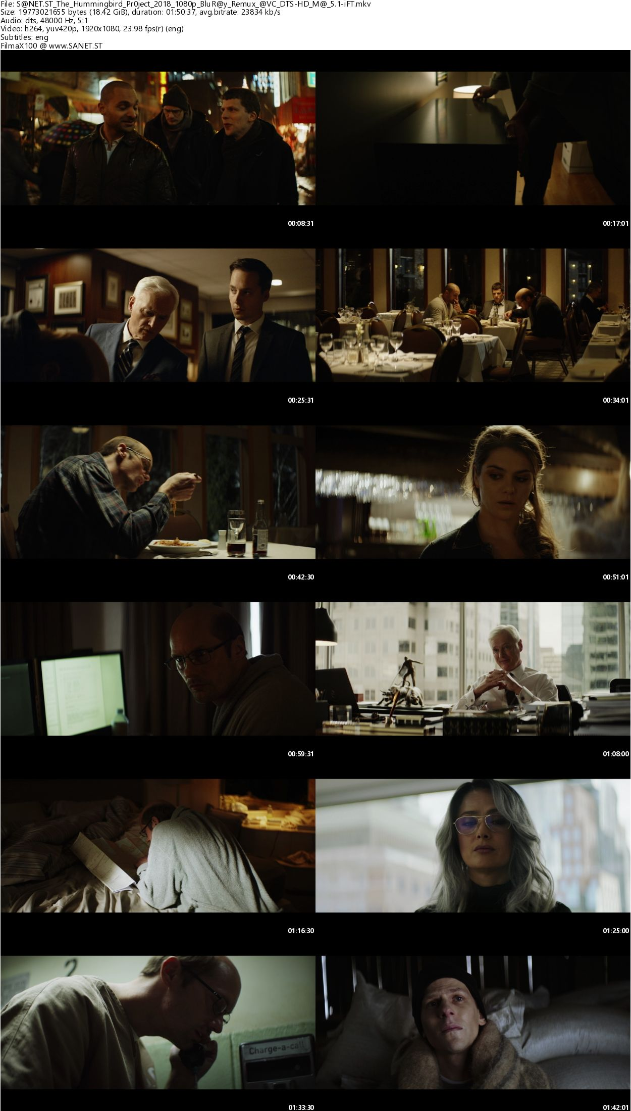 Download The Hummingbird Project 2018 1080p BluRay Remux AVC