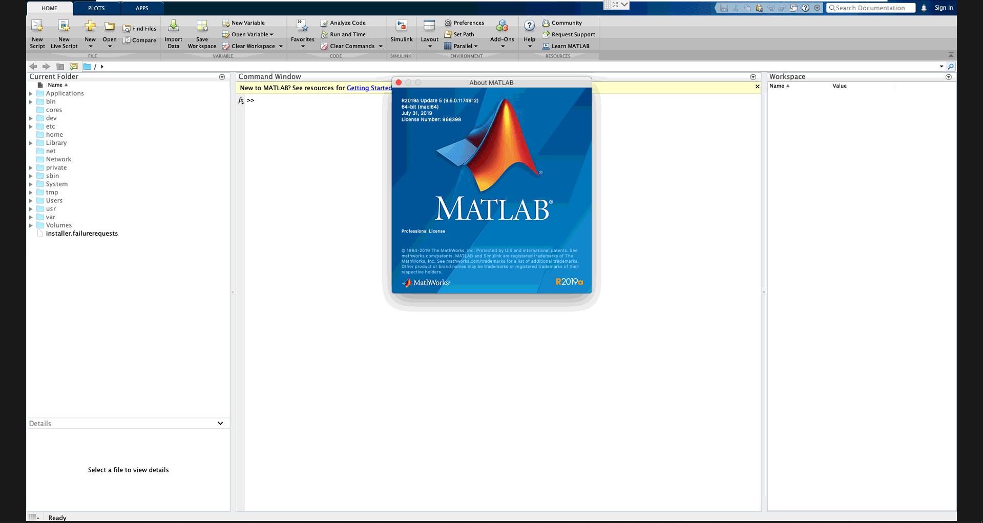 Download MathWorks MATLAB R2019a v9 6 0 1174912 Full MACOSX