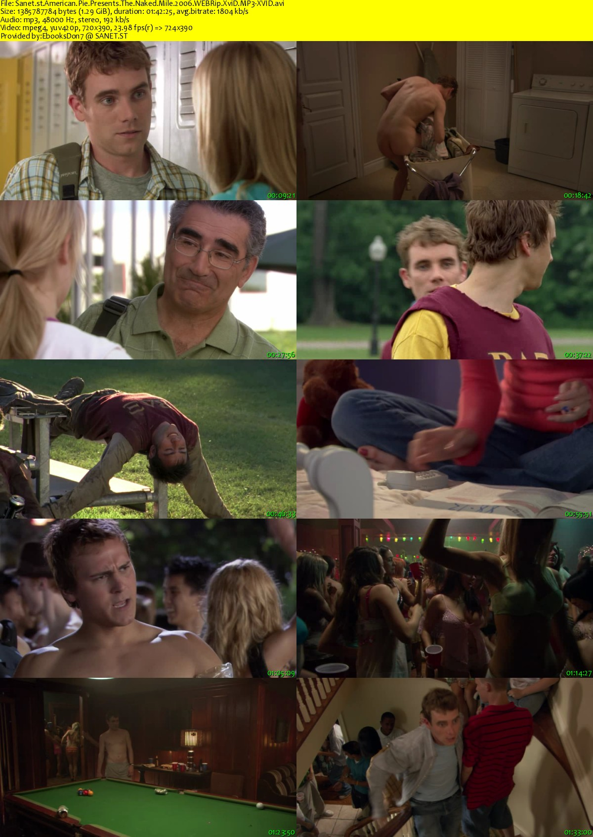 American Pie Screenshots download american pie presents the naked mile 2006 webrip