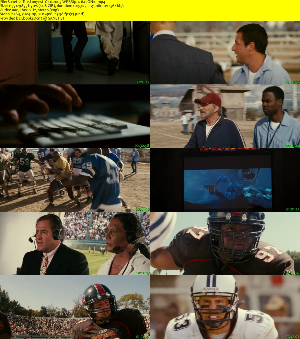 Download The Longest Yard 2005 Webrip X264 Ion10 Softarchive