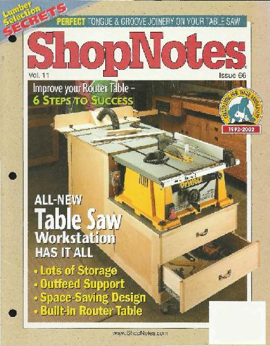 Woodworking Shopnotes 070 - Multipurpose Storage Solution