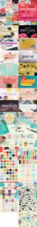 Creativeqube Design Studio   The Greatastic 58 Font Bundle   Over 1000 Illustrations + Patterns