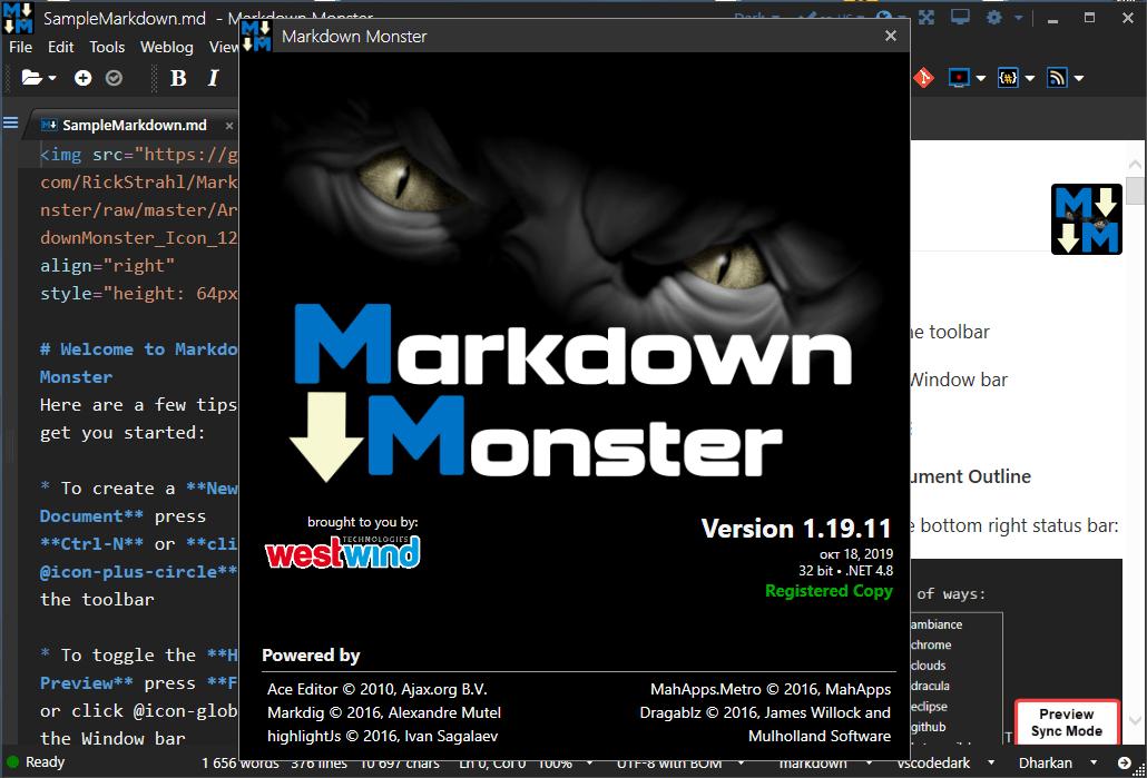 Markdown Monster 1.22.8           [Ingles] [UL.IO] UniEyROk2N0G36GbY3gF9W3gtXJc527z