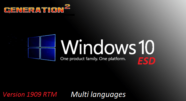 Windows 10 Pro Version 1909 19H2 RTM Build 18363.476 x64 3in1 OEM ESDNovember 2019