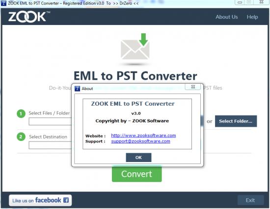 ZOOK EML to PST Converter v3.0