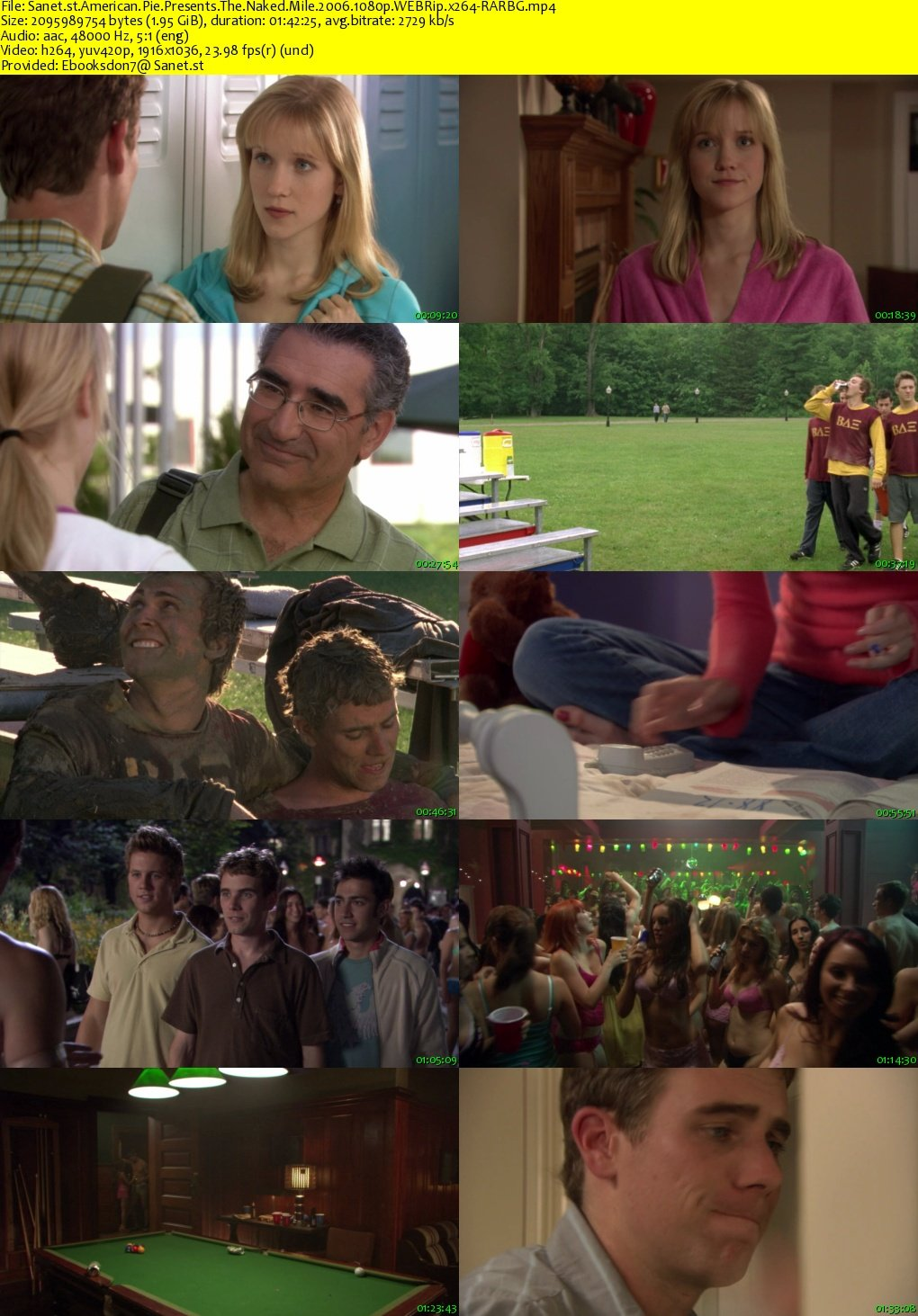 American Pie Screenshots download american pie presents the naked mile 2006 1080p