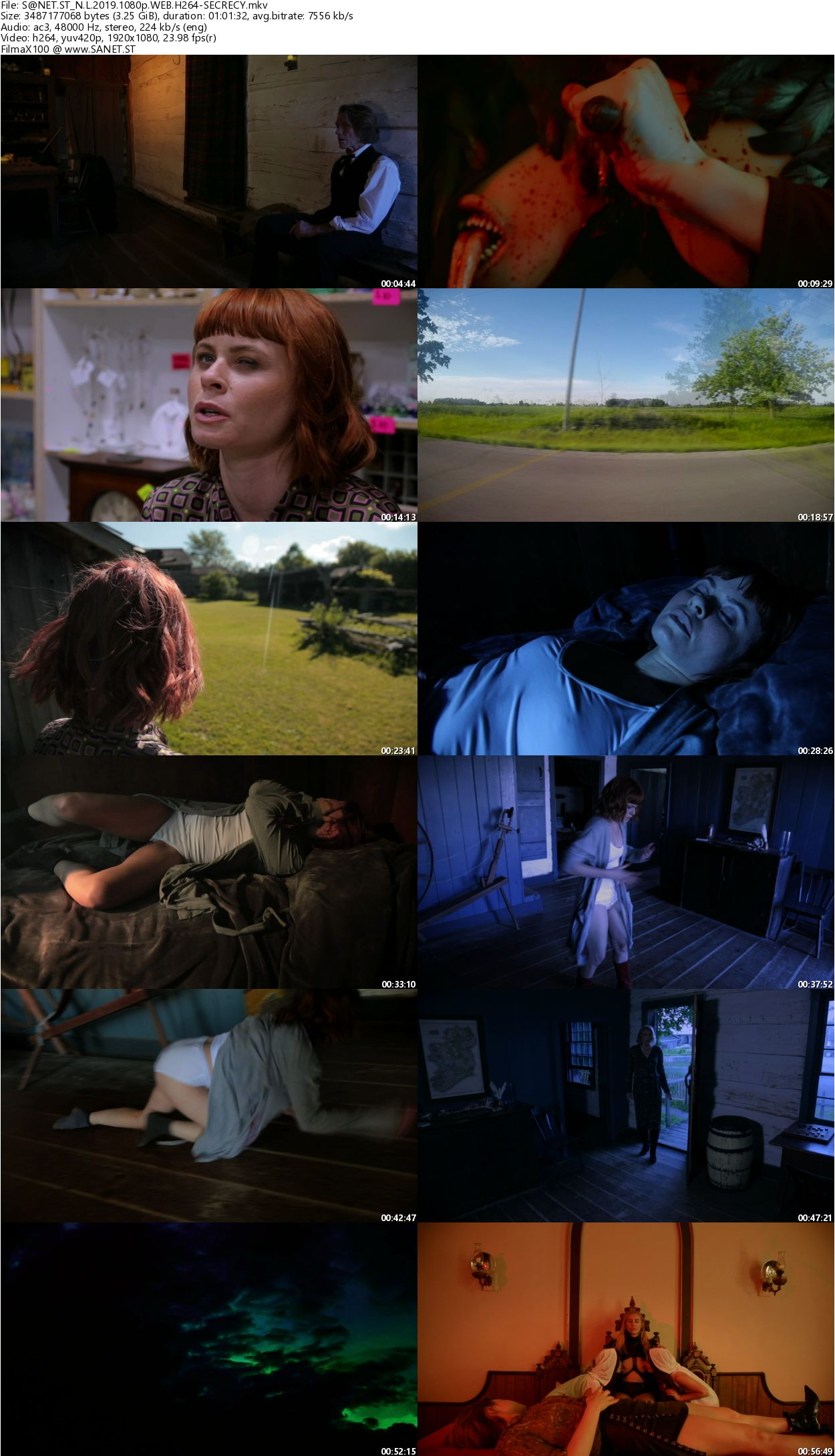 A collection of stills from Necropolis: Legion, highlighting the rich use of color in the film.