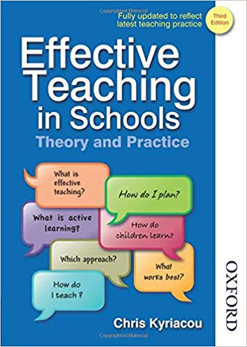 Effective Teaching in Schools Theory and Practice Third Edition Ed 3