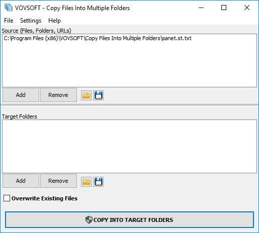 VovSoft Copy Files Into Multiple Folders 2.9