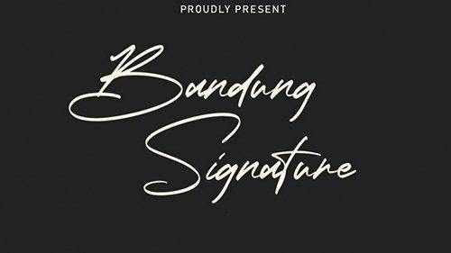 Bandung Signature Script Font