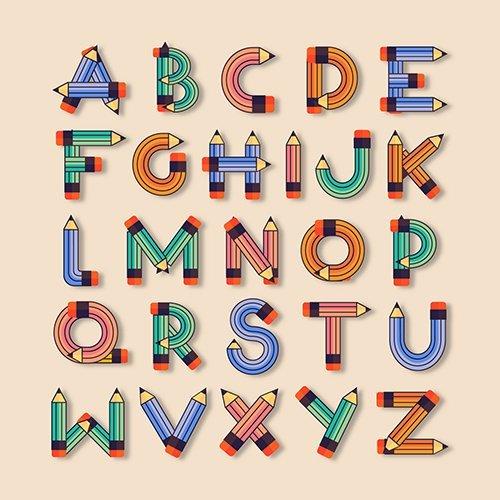 Flat Kids School Font
