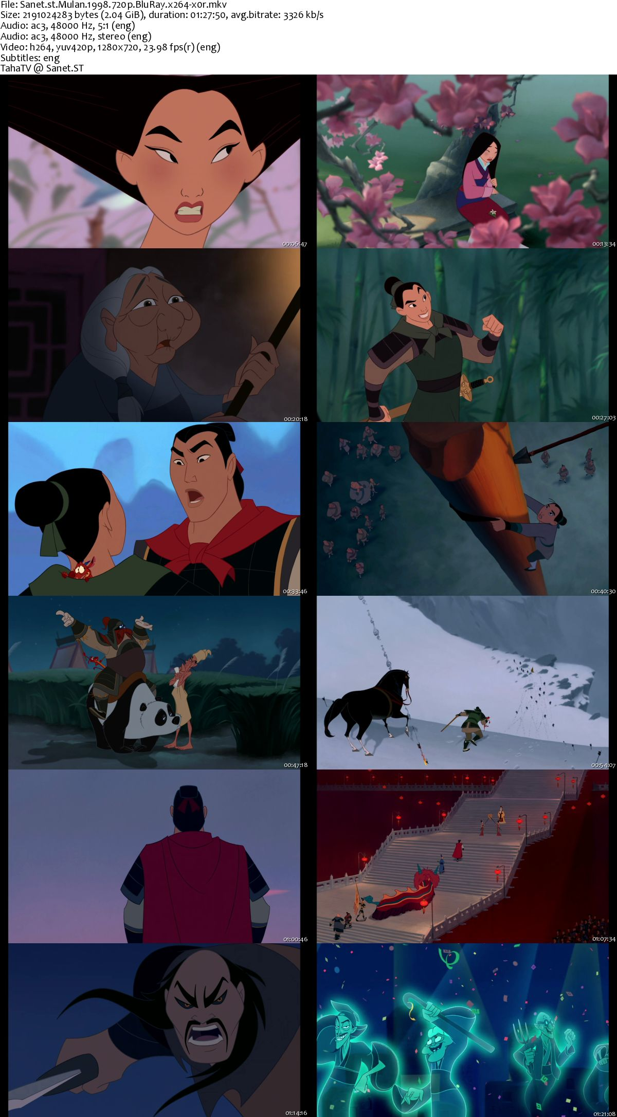 Download Mulan 1998 720p Bluray X264-x0r